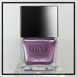 No SHRINKING Violet - Shimmering Pale Purple Nail Polish - SHINE Nail Polish