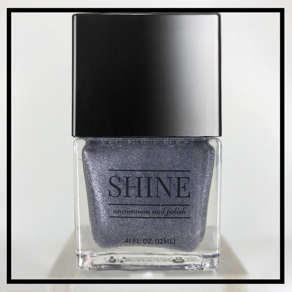 Perfect Storm Gray Holographic Nail Polish - SHINE Nail Polish
