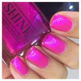Who's Your Momma Now - Electric Pink/Fuchsia Color Shifting Nail Polish - SHINE Nail Polish