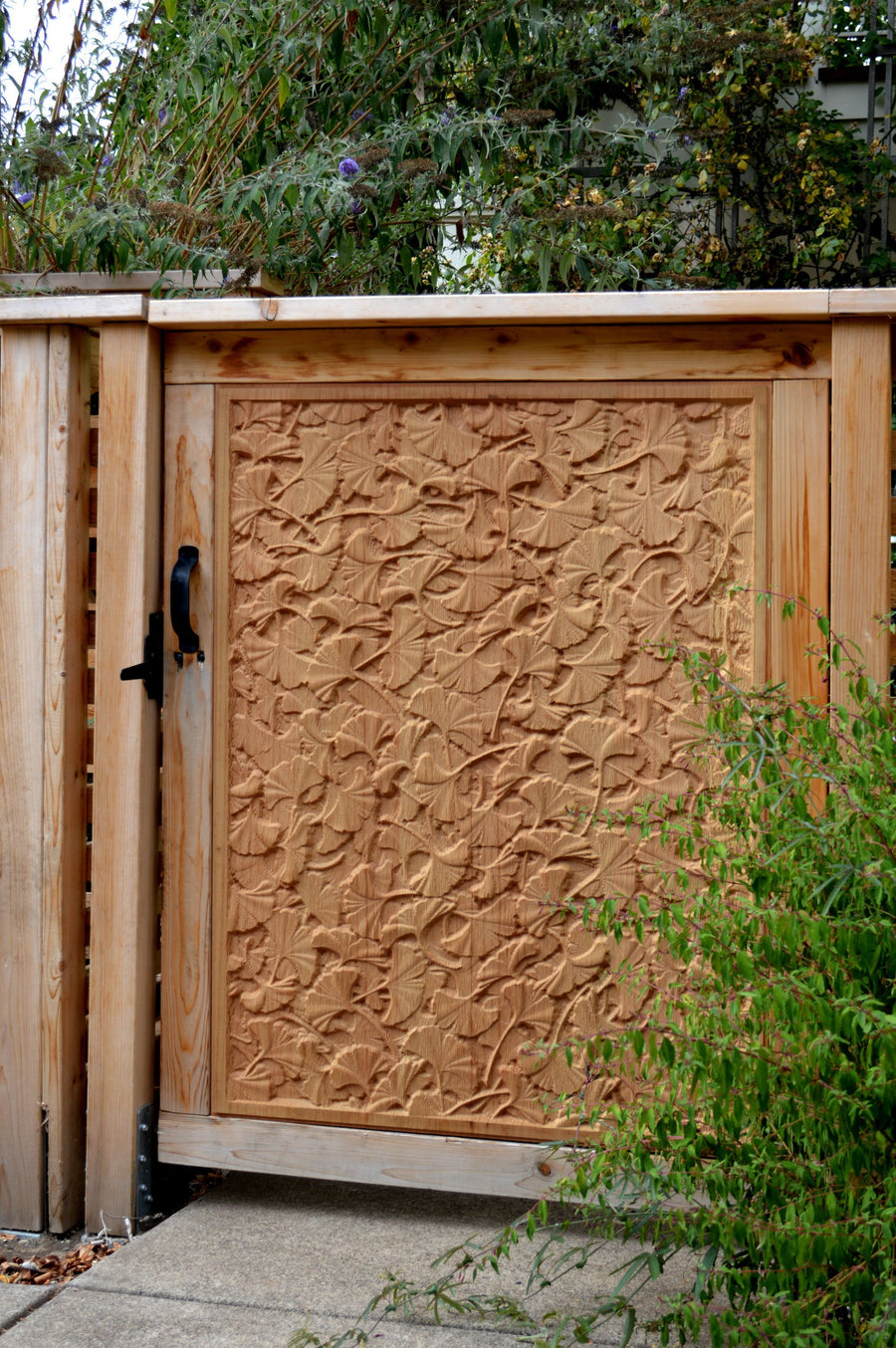 Nature Texture Gate with Gingko Leaf