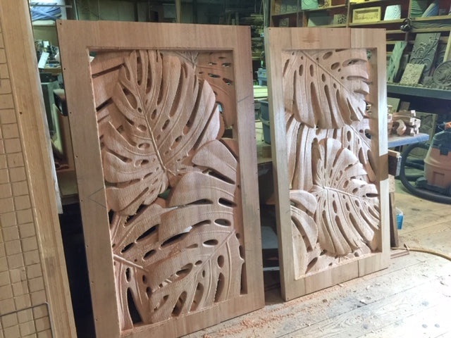 Monstera Gate Panels
