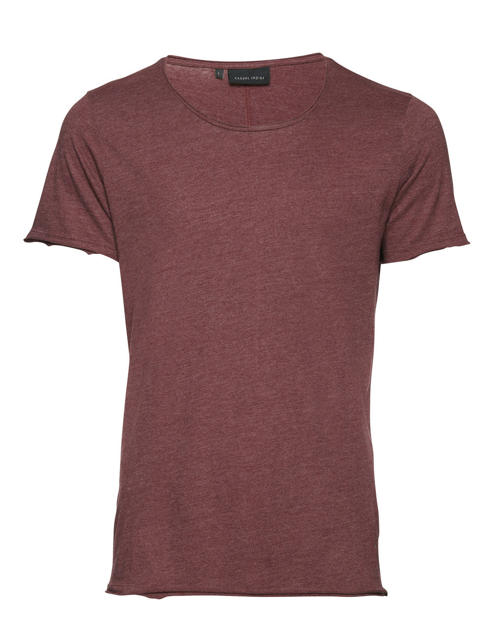 CASUAL FRIDAY - Short Sleeved WineRed