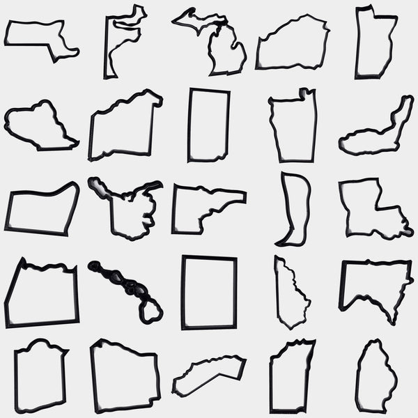 All 50 States Cookie Cutters - By ThingHero