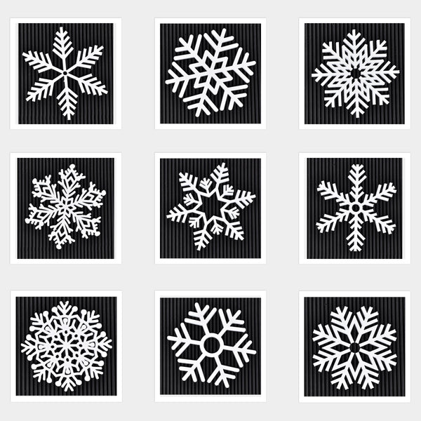 "Set of 9 - 4"" snowflakes - By ThingHero"