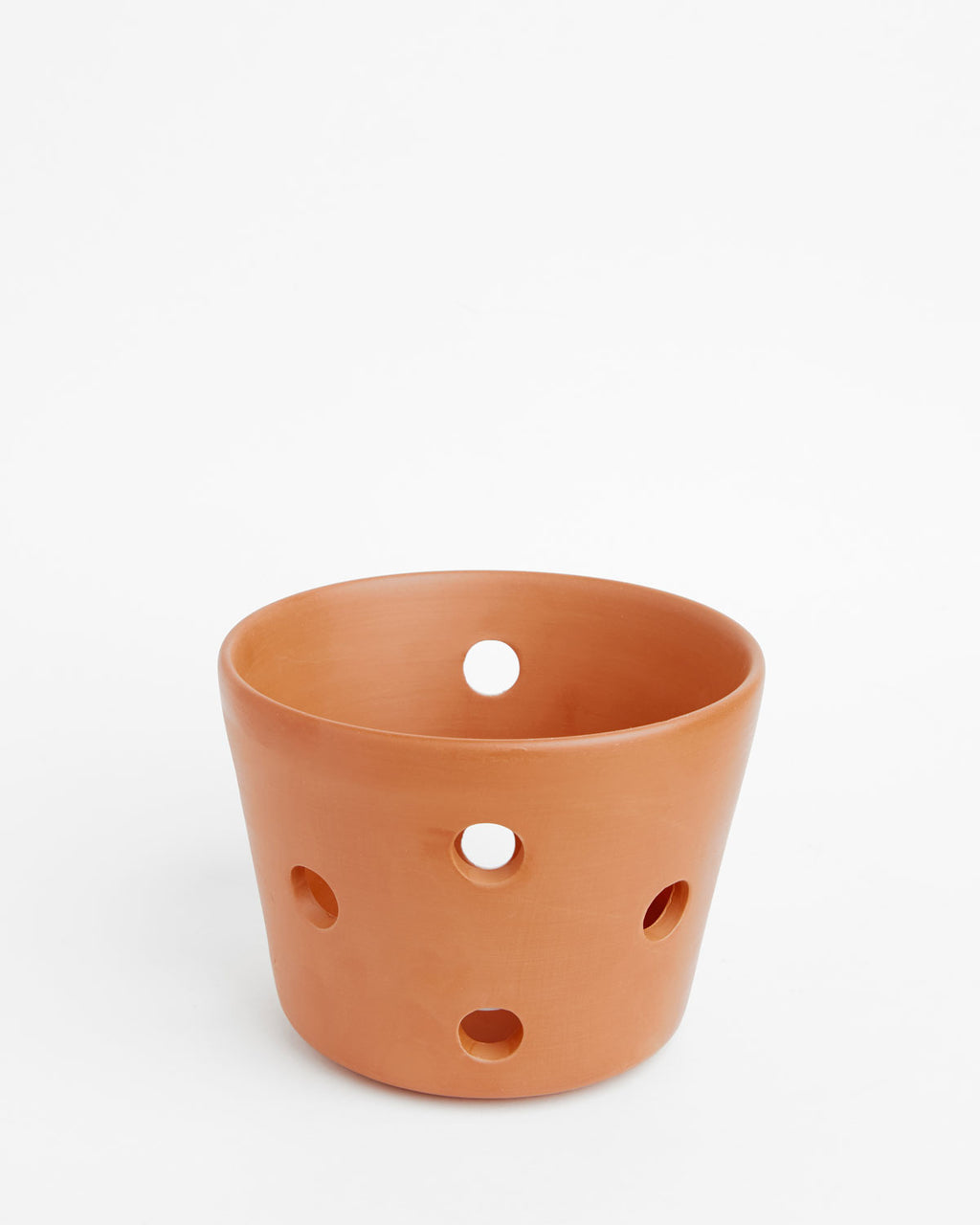 "Orchid Pot With Holes: Clove Soft-as-Silk 3.5""H x 4.5""D"