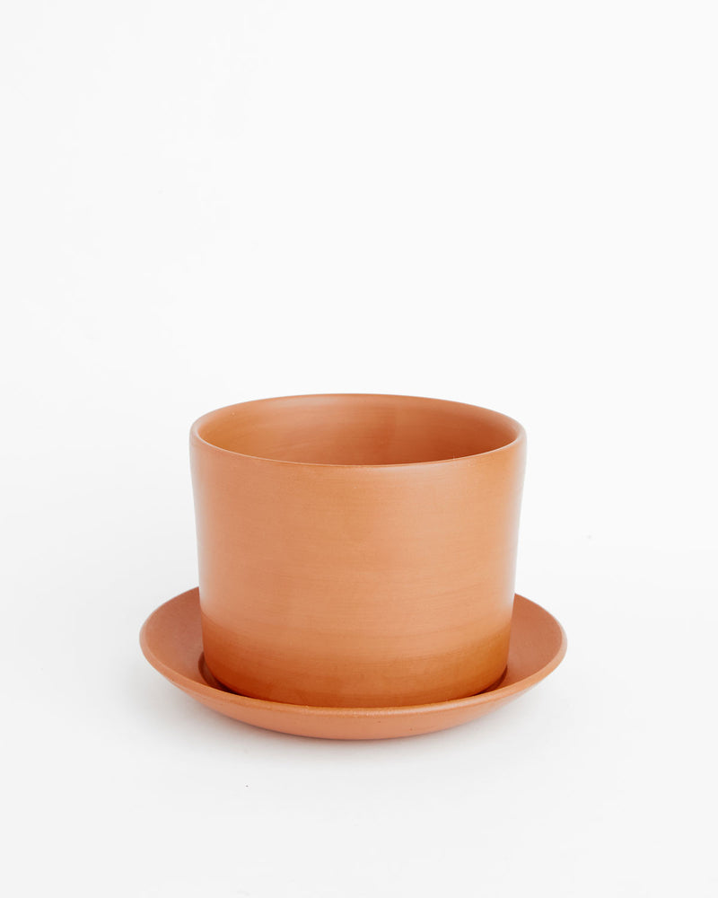 "Hazel: Soft-as-Silk Terracotta Clay Pot 3.5"" H x 4.25""D"