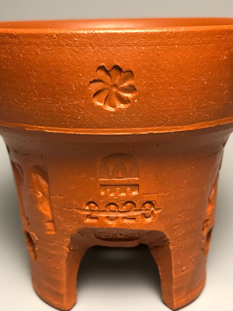 One-of-a-Kind No.19 Round Tri-Foot Unique Terracotta Pot
