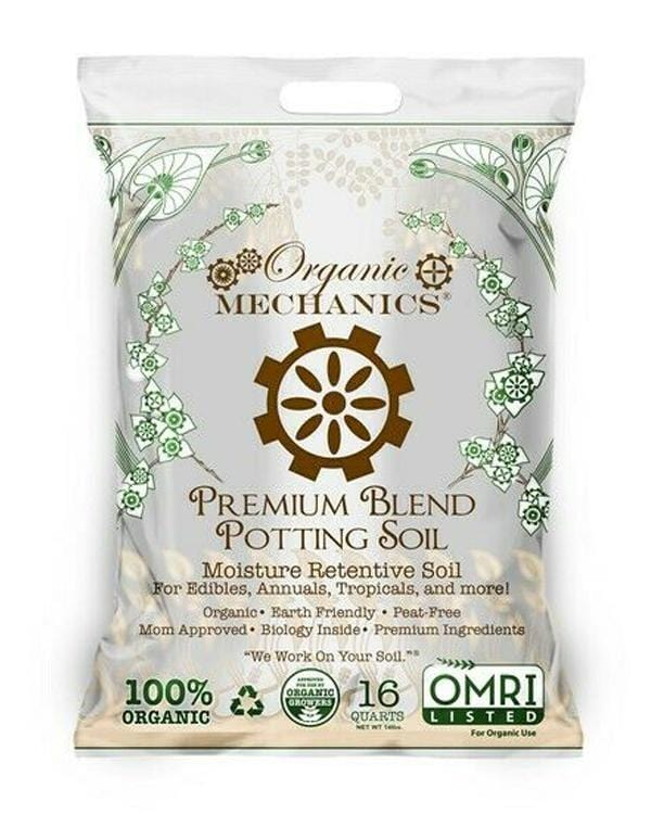 Soil Mix for Indoor Pots: Organic Mechanics Premium Blend