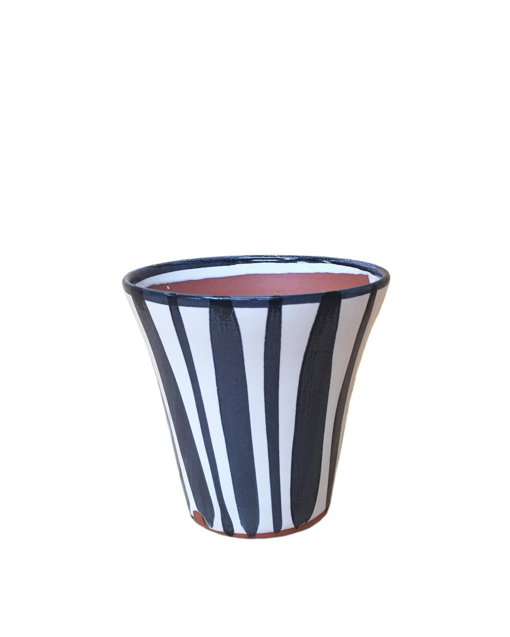 "Scout: Hand Painted Stripes 5.5: H x 5.75""D"