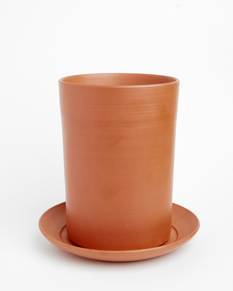 "Finn: Soft-as-Silk Terracotta Clay Pot 7""H x 4.5""D"