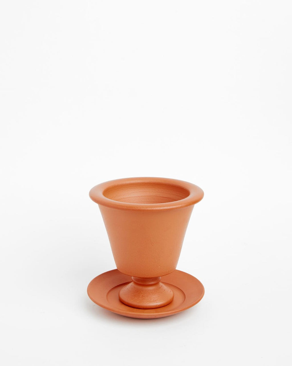"Pedestal Greek: Soft-as-Silk Mini Plant Pot 4""H x 3.5""D"