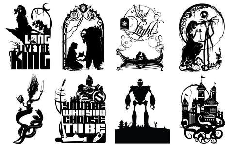 Prints Animated Films Silhouettes