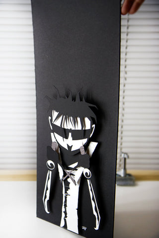 Johnny The Homicidal Maniac - JTHM - 3D hand cut paper