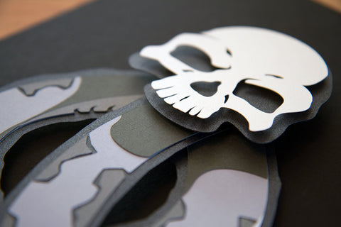 Dark Mark - 3d hand cut  paper