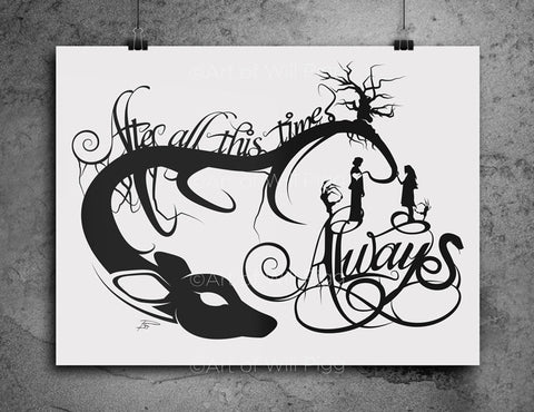 Always Snape and Lily - screen print