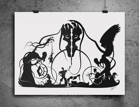 Tale of Three Brothers - screen print
