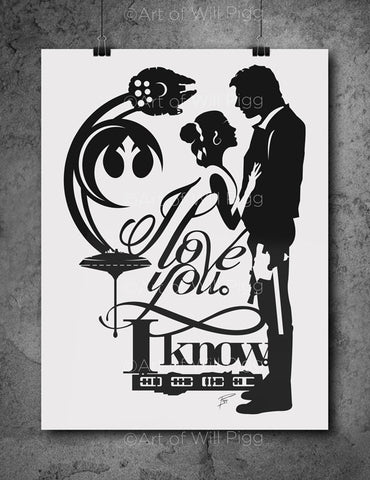 I Love You I Know - screen print