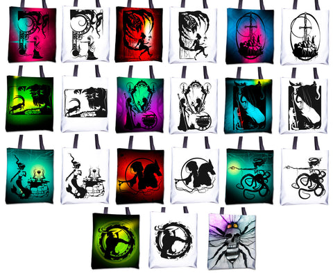 Totes - Original Fairy Tale & Fable hand cut paper & charcoal illustrations