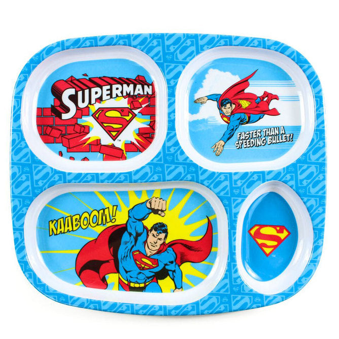 DC Comics Divided Plate- Superman
