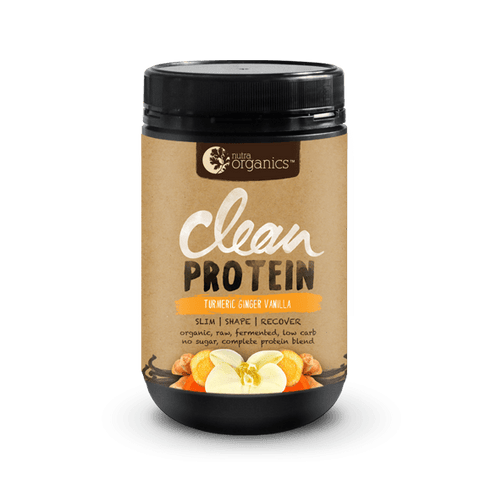 Nutra Organics- Clean Protein-TURMERIC GINGER VANILLA 500g