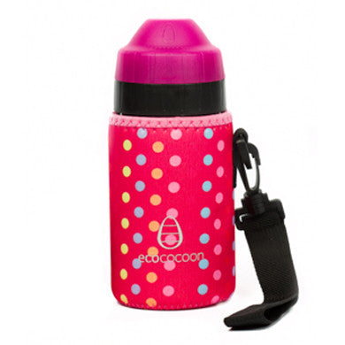 Ecococoon Bottle Cuddler- Pink Spotty 350ml