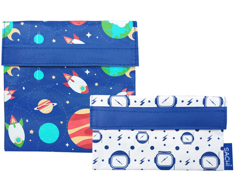 Sachi Reusable Lunch Pocket Set- Outer Space