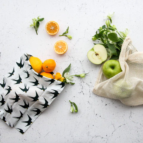 Organic Produce Bags- 3 pack- Birds