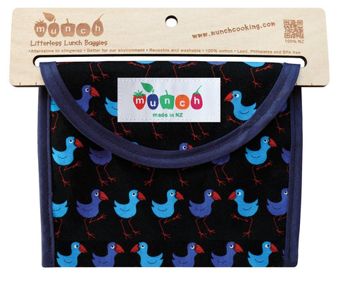 Litterless Lunch Bag- Pukeko