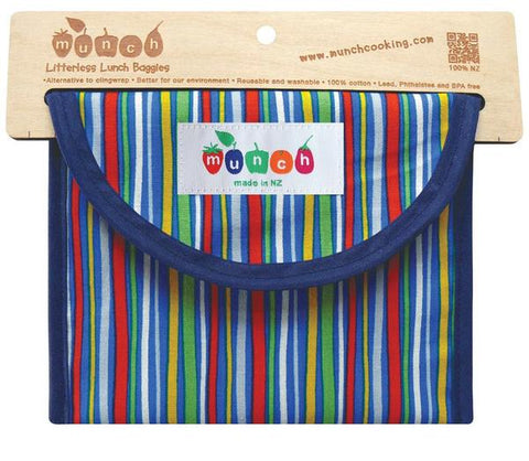 Litterless Lunch Bag- Stripes