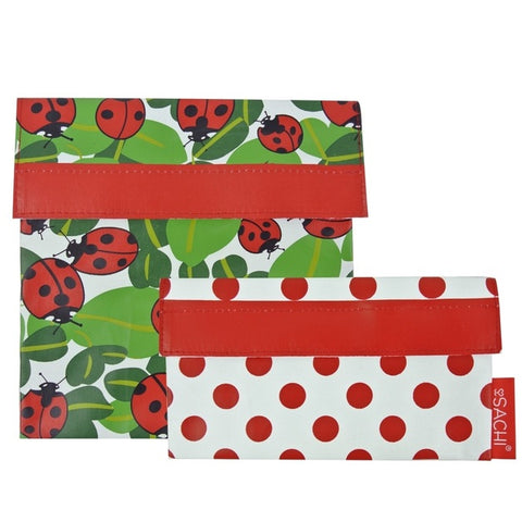 Sachi Reusable Lunch Pocket Set – Lady Bugs