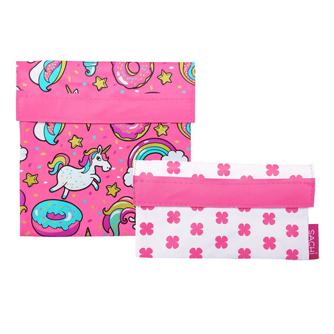 Sachi Reusable Lunch Pocket Set- Unicorns