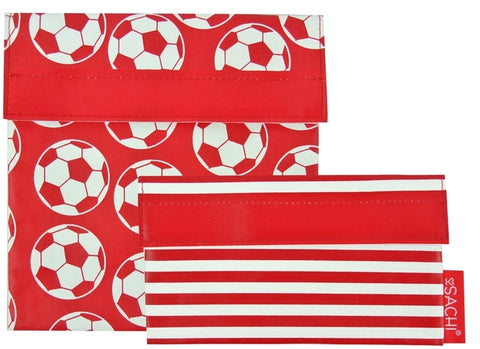 Sachi Reusable Lunch Pocket Set – Soccer Ball