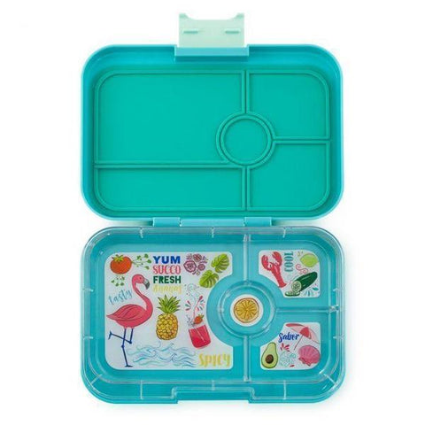 Yumbox Tapas- 4 Compartment  Antibes blue