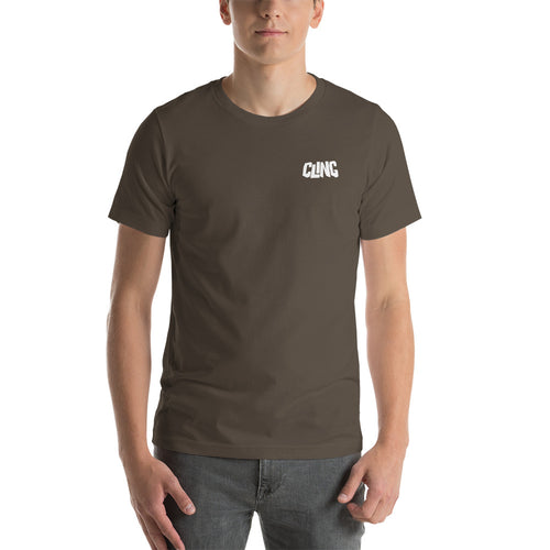Cling Short-Sleeve Unisex T-Shirt (Front and Back Label)