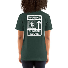 Climber Above Short-Sleeve Unisex T-Shirt