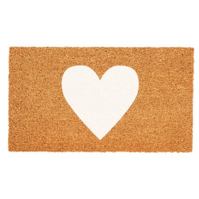 Doormat - White Heart Mat