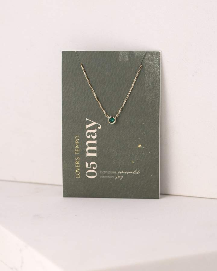 Lover's Tempo - Birthstone Necklaces - 18K Gold/Rhodium-Plated Brass