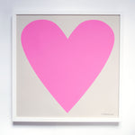Art Print - Cool Pink Heart Screenprint