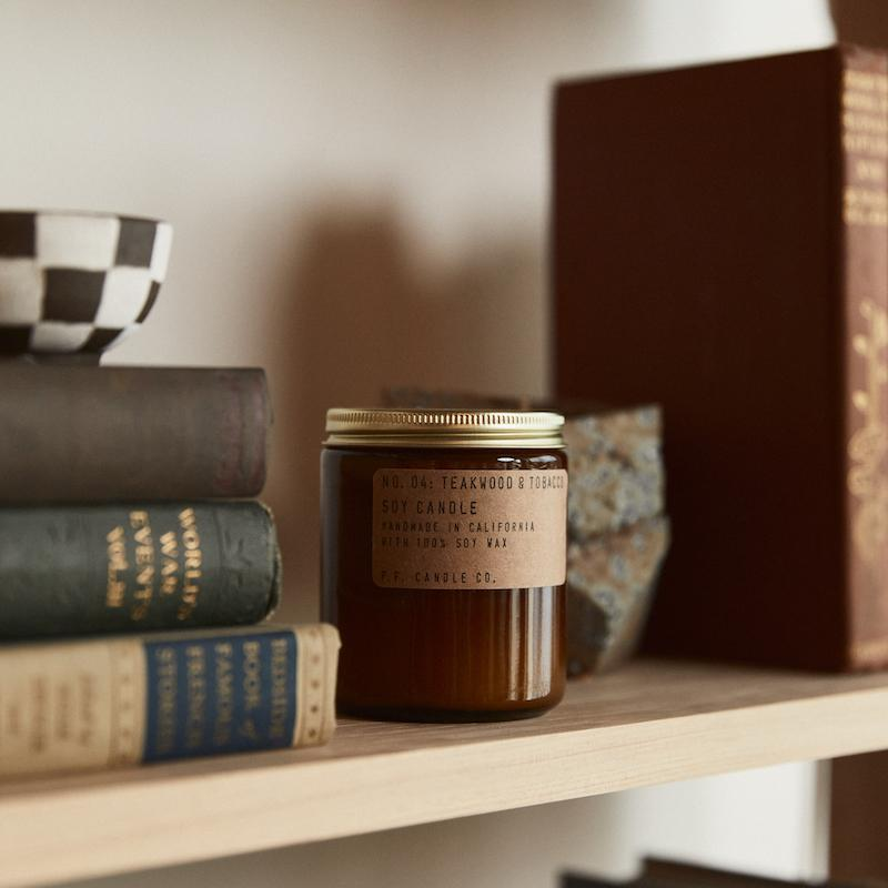P.F. Candle Co - Teakwood & Tobacco Soy Candle