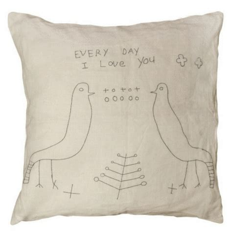 Sugarboo & Co - TWO BIRDS STITCHED PILLOW