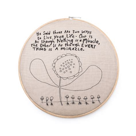 Embroidery Hoop Wall Hanging - Two Ways to Live