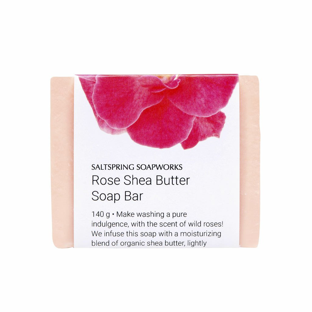 Saltspring Soapworks -  Rose Shea Butter Soap Bar
