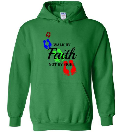 Walk by FAITH - Corinthians 5:7 Heavy Blend Hoodie