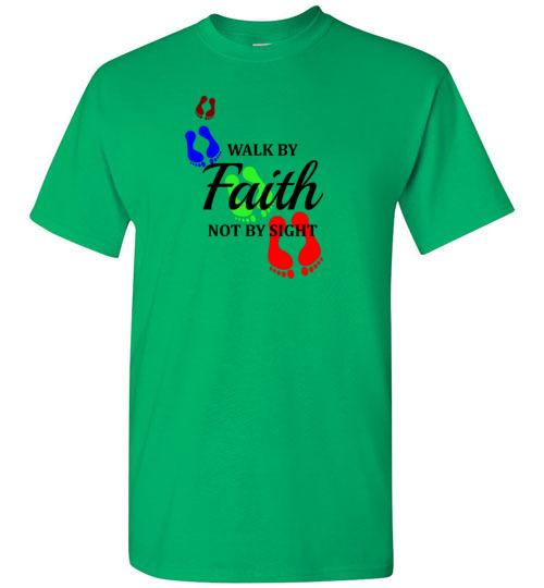 Walk by FAITH - Corinthians 5:7 Short-Sleeve T-Shirt