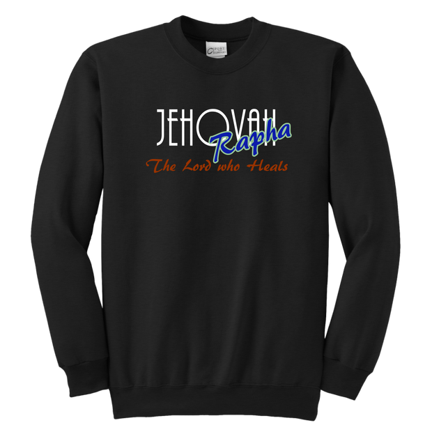 Jahovah Rapha — The Lord Who Heals Youth Crewneck Sweatshirt