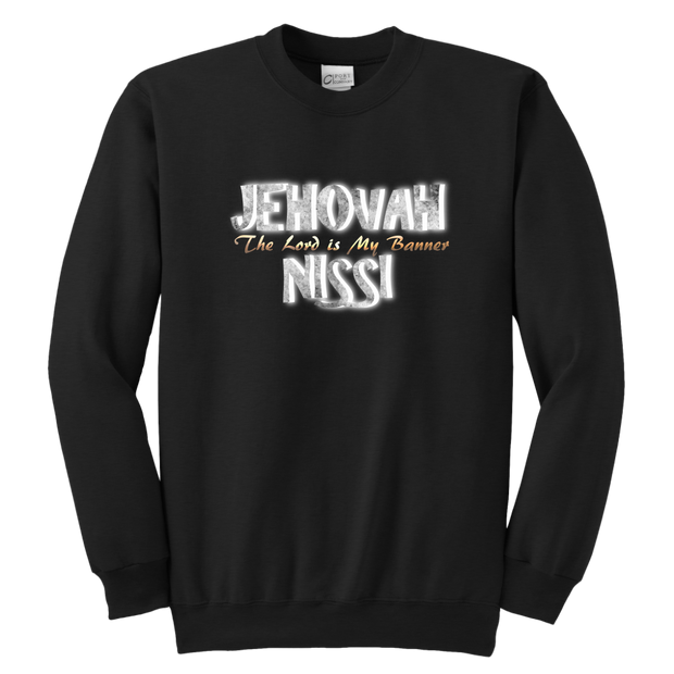 Jehovah Nissi — The Lord is My Banner Youth Crewneck Sweatshirt