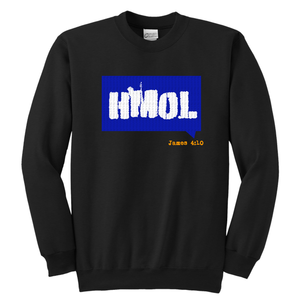 Humble Me Oh Lord — James 4:10 Youth Crewneck Sweatshirt