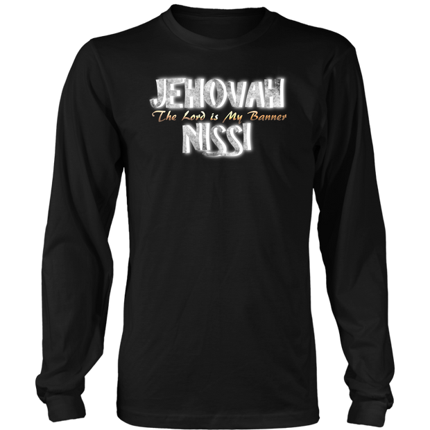 Jehovah Nissi — The Lord is My Banner Mens Long Sleeve T-Shirt