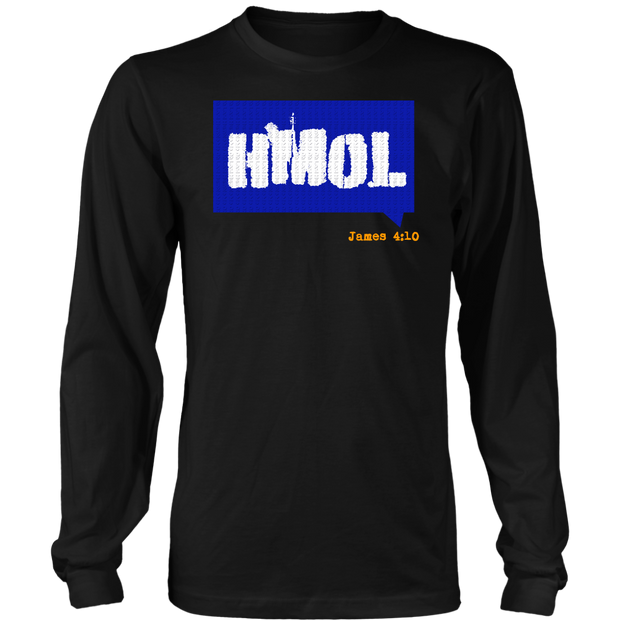 Humble Me Oh Lord — James 4:10 Mens Long Sleeve Shirt