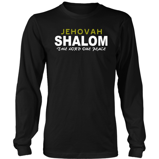 Jehovah Shalom — The Lord our Peace Mens Long Sleeve T-Shirt